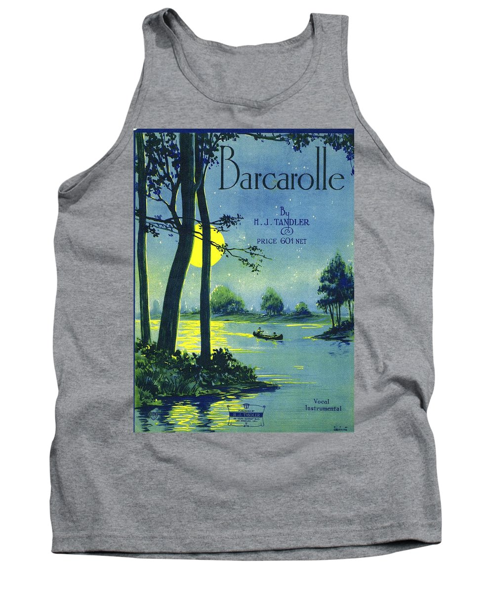 Nostalgia Tank Top featuring the photograph Bacarolle by Mel Thompson