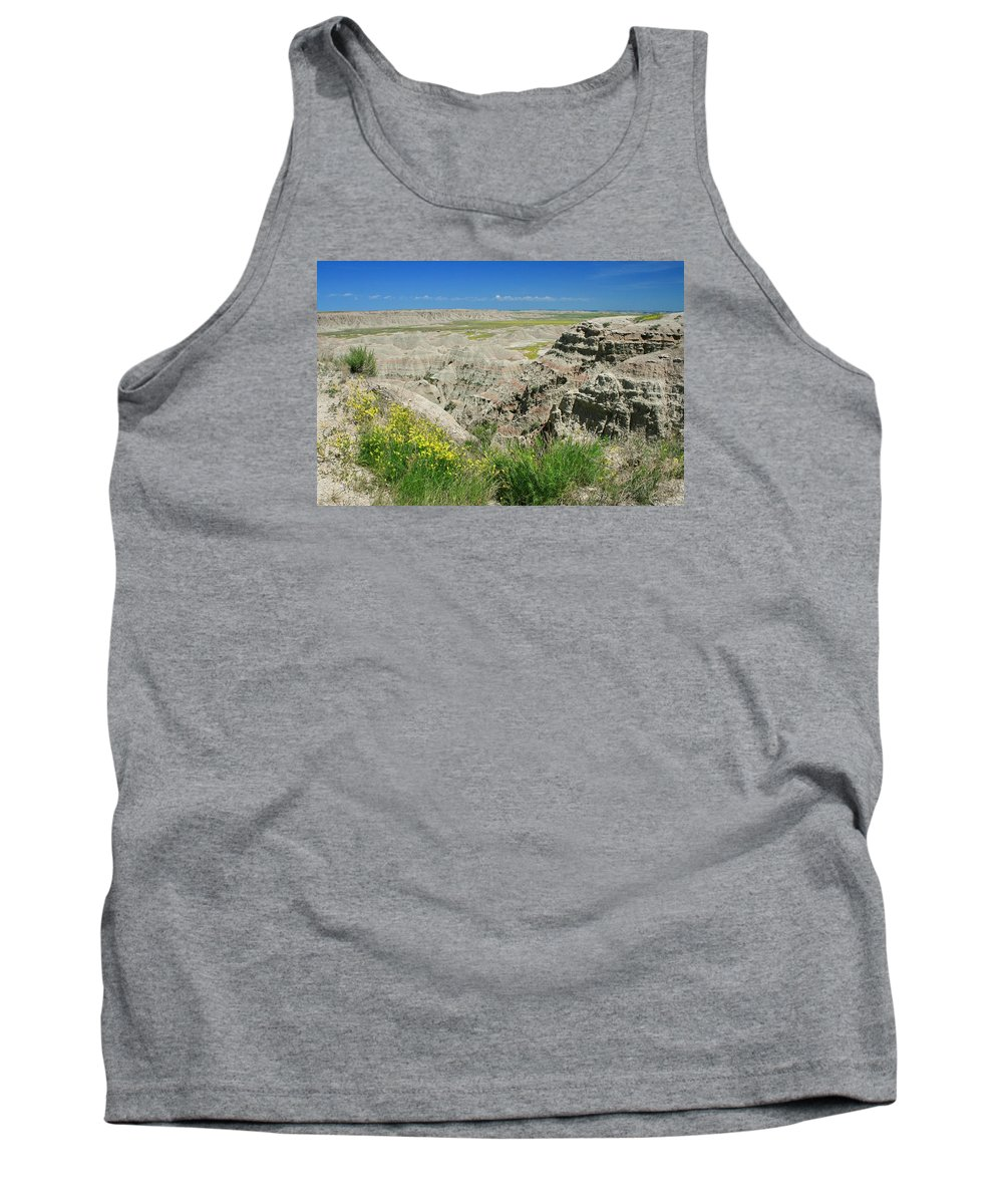 Badlands Tank Top featuring the photograph Badlands National Park 1 by Susan McMenamin