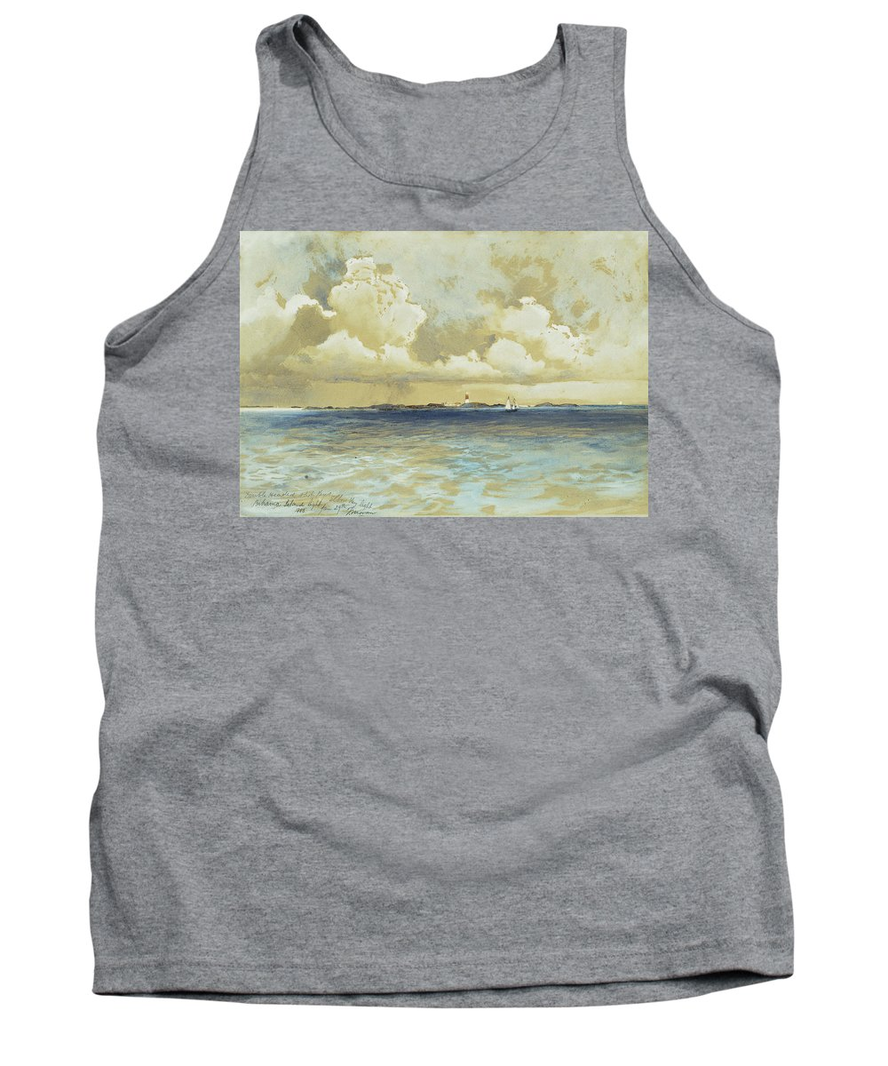 Watercolor Tank Top featuring the painting Bahama Island Light by Thomas Moran