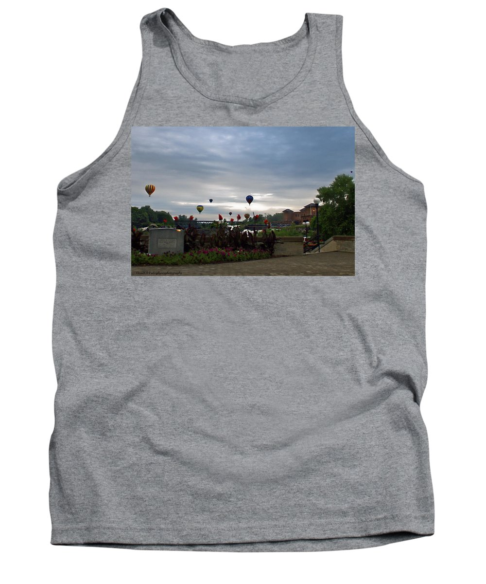 Lewiston Maine Tank Top featuring the photograph Balloons Over Lewiston by Catherine Melvin