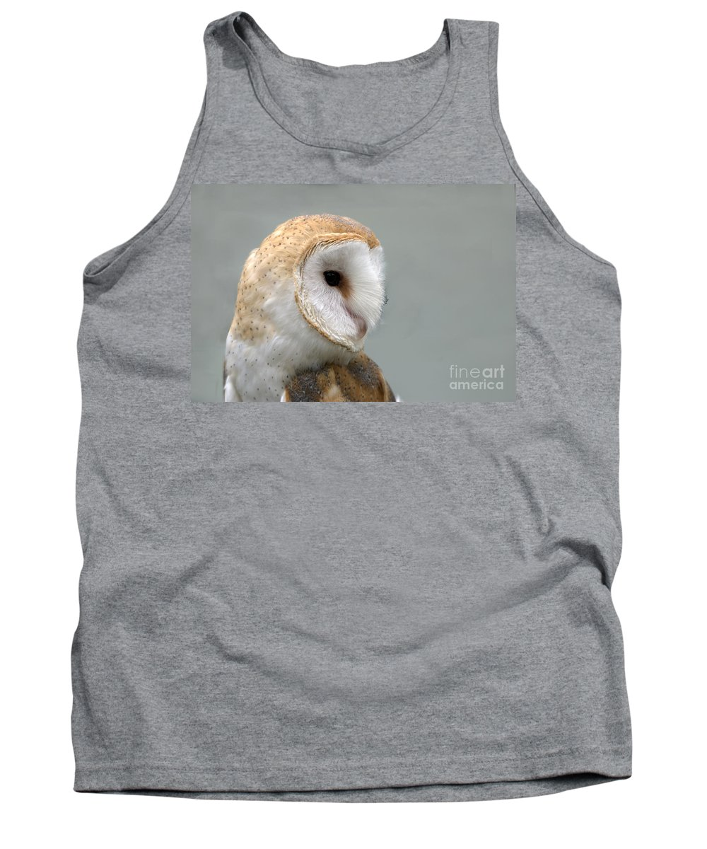 Barn Owl Tank Top featuring the photograph Barn Owl #3 by John Greco