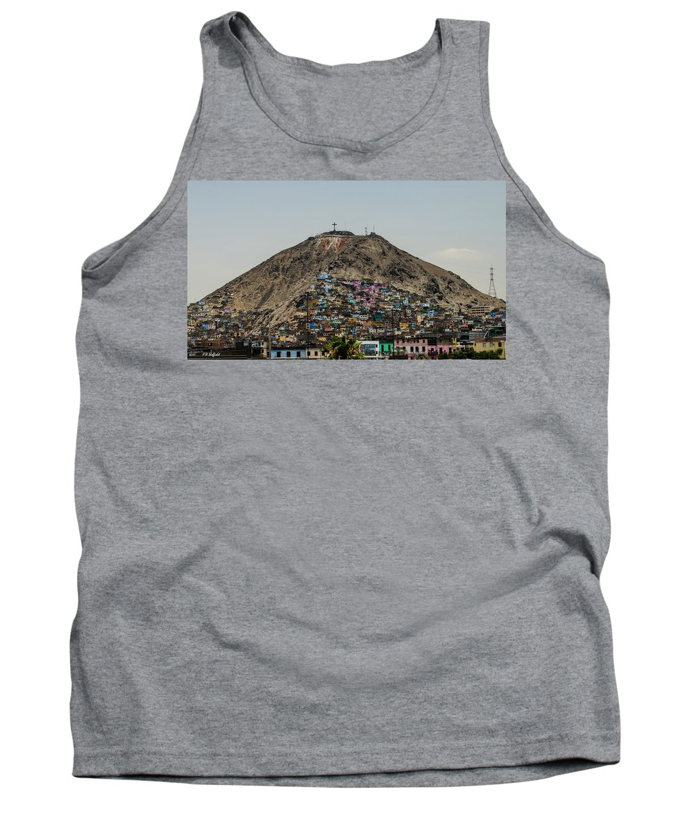 Lima Tank Top featuring the photograph Barrio In Lima by Allen Sheffield