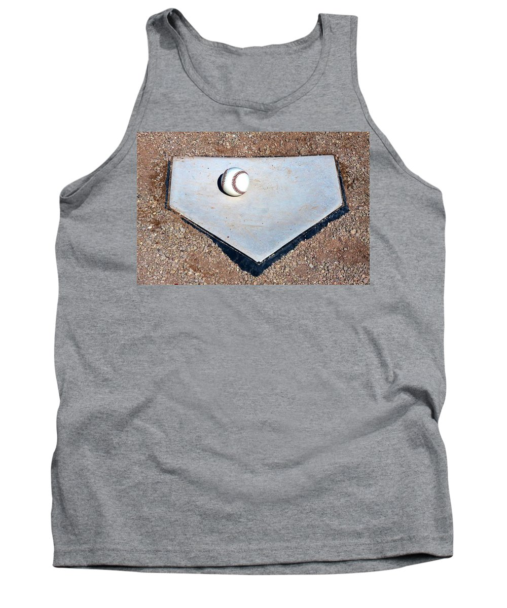 Baseball Tank Top featuring the photograph Batter Up by Christopher Miles Carter