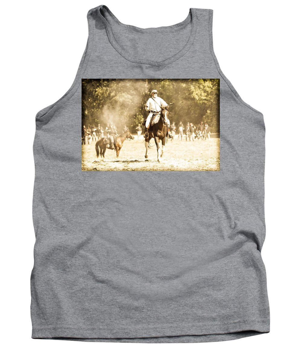Civil War Tank Top featuring the photograph Battlefield by Athena Mckinzie