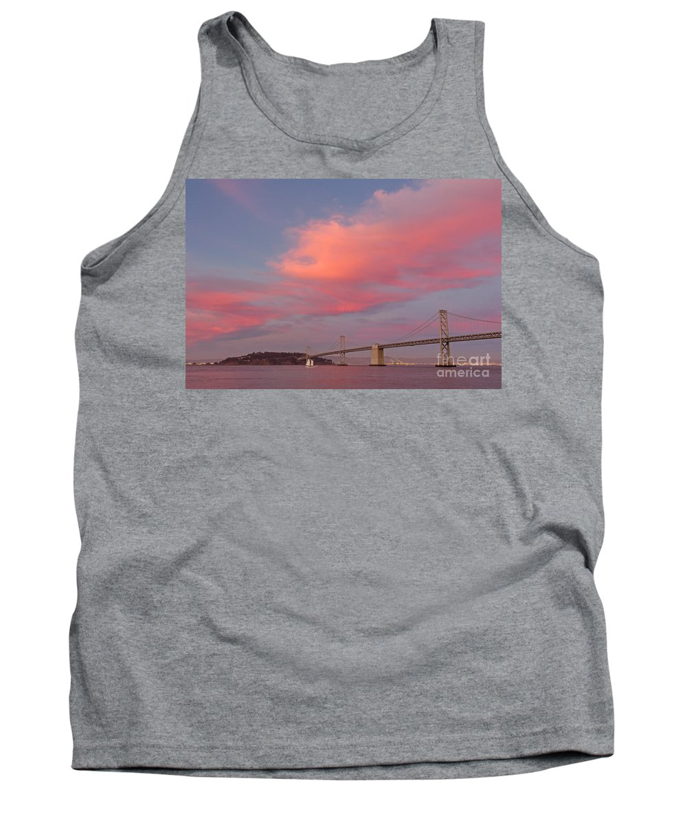 Bay Bridge Tank Top featuring the photograph Bay Bridge Sunset by Kate Brown
