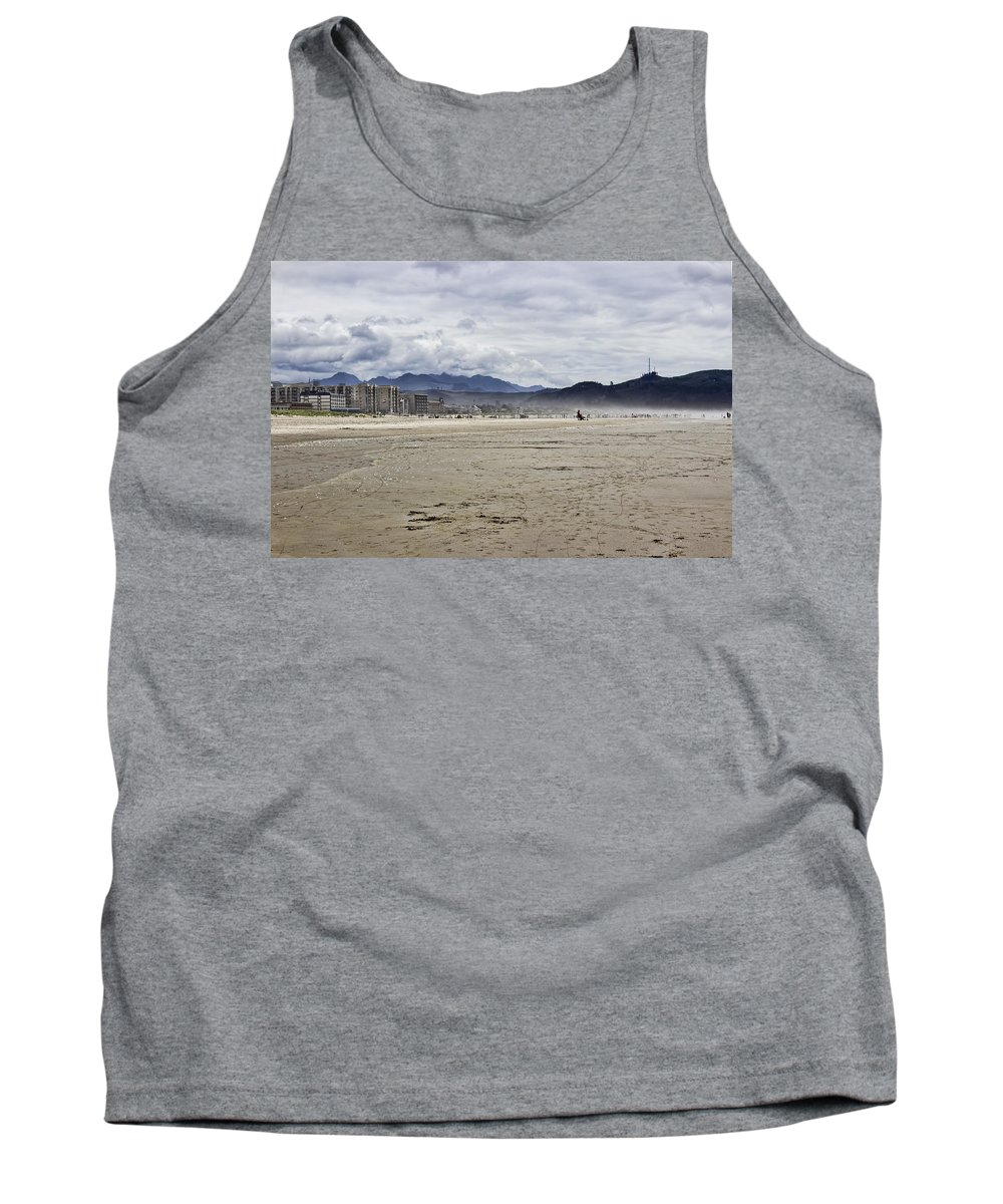 Beach Tank Top featuring the photograph Beach At Seaside Oregon by Cathy Anderson
