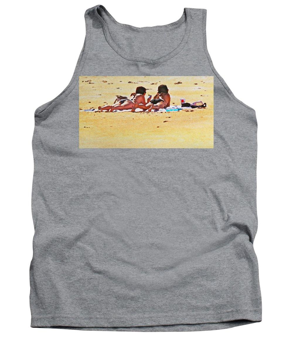 Beach Beauties Bathing Suits Ocean Flagler Beach Alicegipsonphotographs Tank Top featuring the photograph Beach Beauties by Alice Gipson