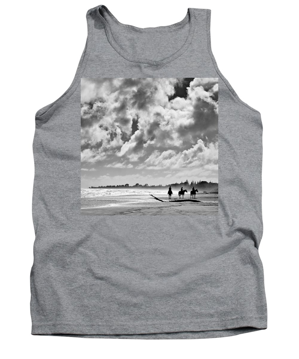 Ride Tank Top featuring the photograph Beach Riders by Dave Bowman