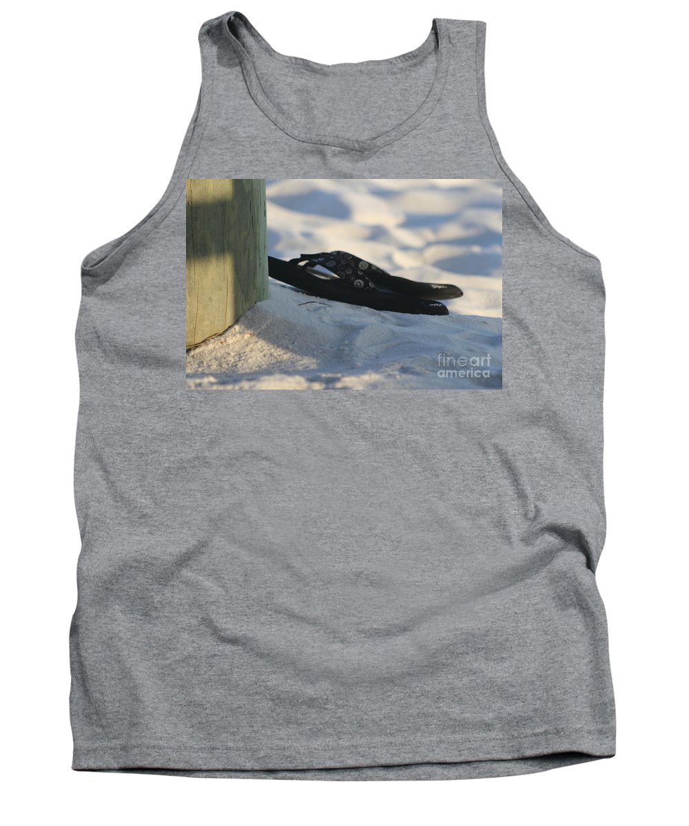 Beach Sandals Tank Top featuring the photograph Beach Sandals 1 by Michelle Powell