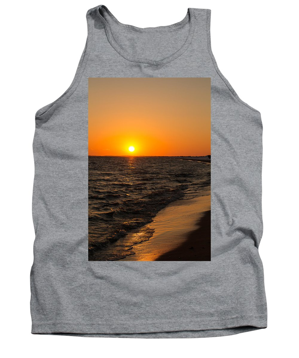 Sunset Tank Top featuring the photograph Beach Sunset by Allan Morrison