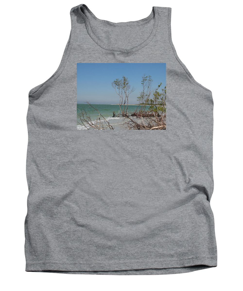 Beach Tank Top featuring the photograph Fort De Soto Beachview by Christiane Schulze Art And Photography