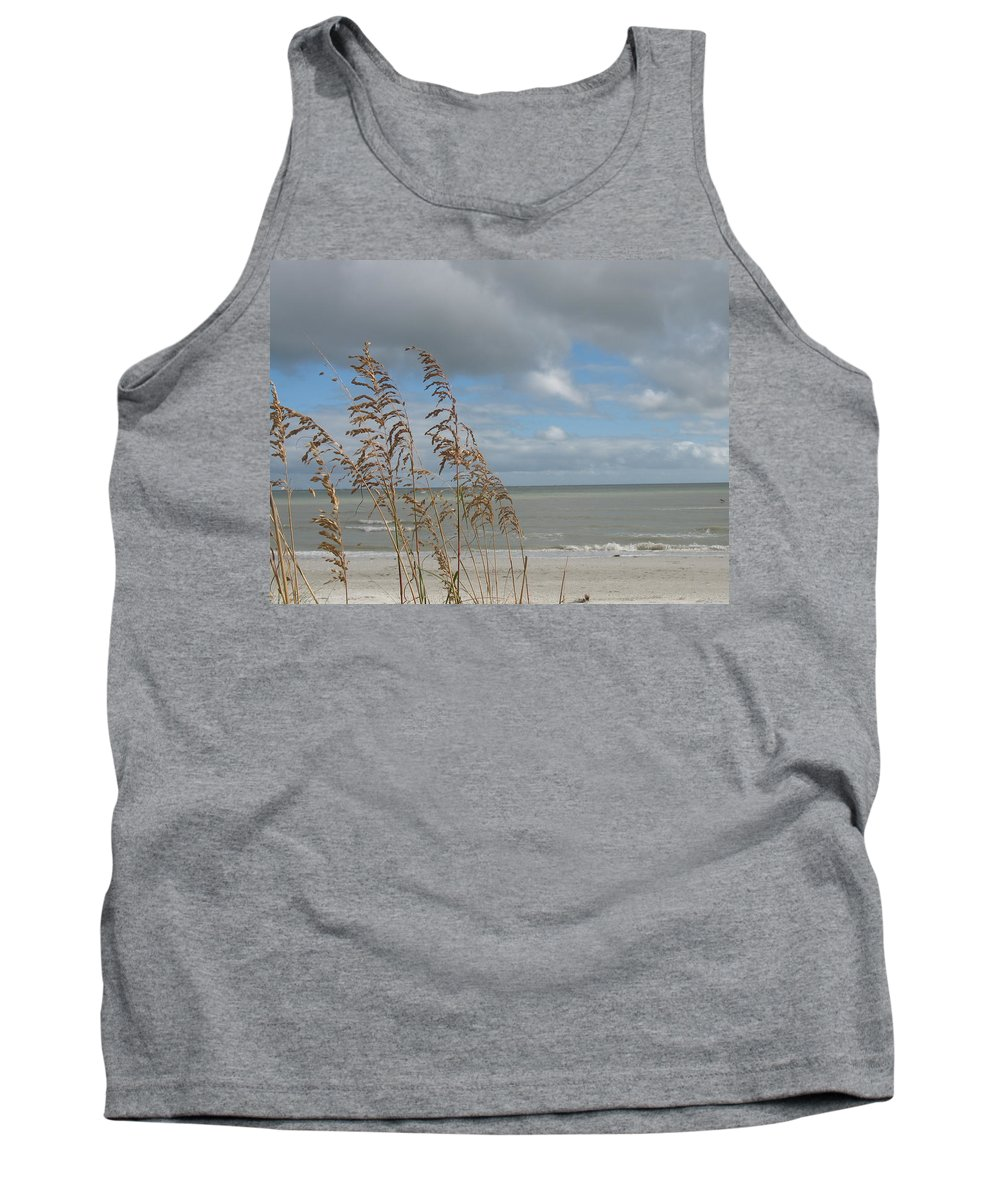 Beach Tank Top featuring the photograph Beachview With Seaoat by Christiane Schulze Art And Photography