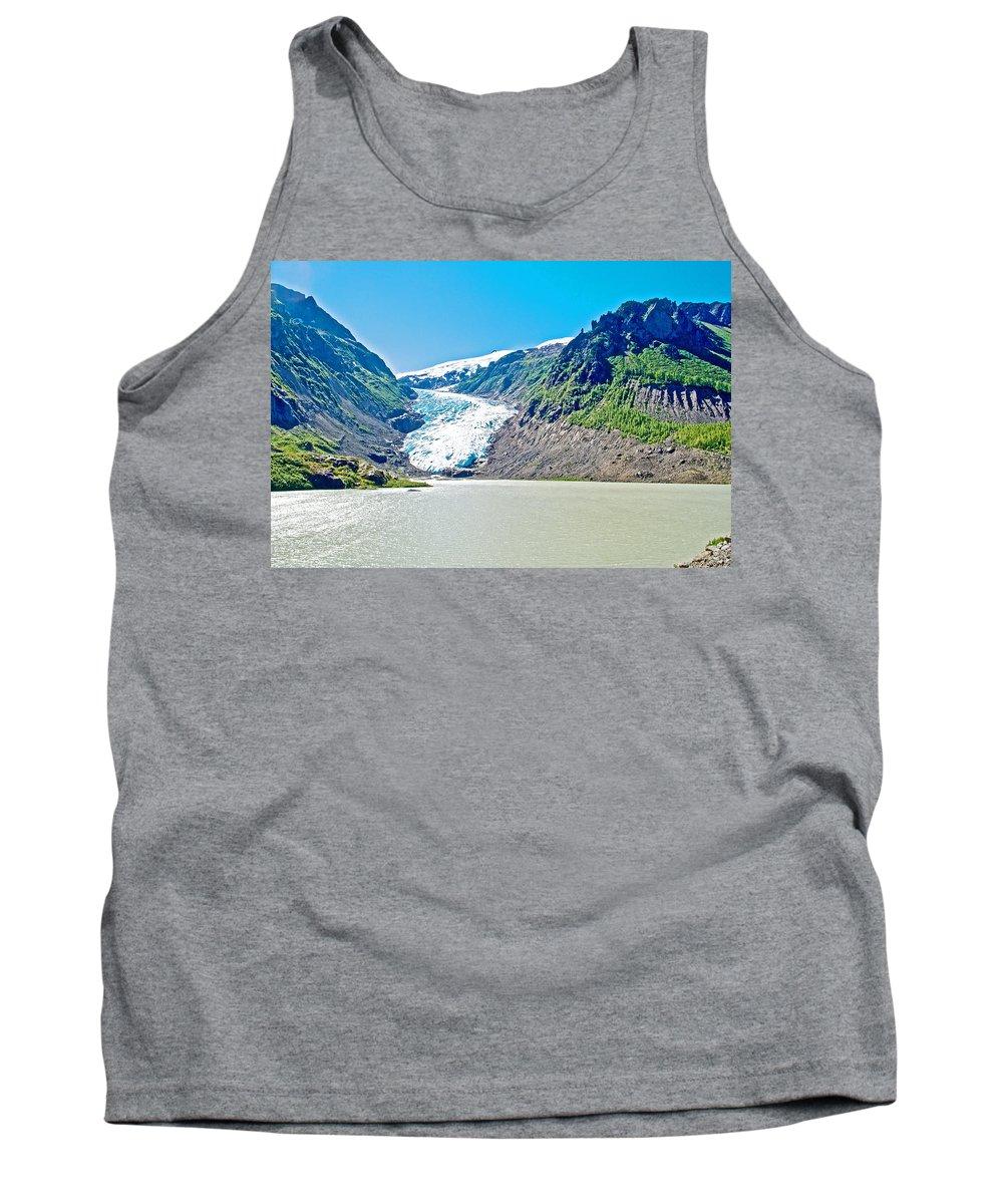 Bear Glacier Near Stewart Tank Top featuring the photograph Bear Glacier Near Stewart-british Columbia by Ruth Hager