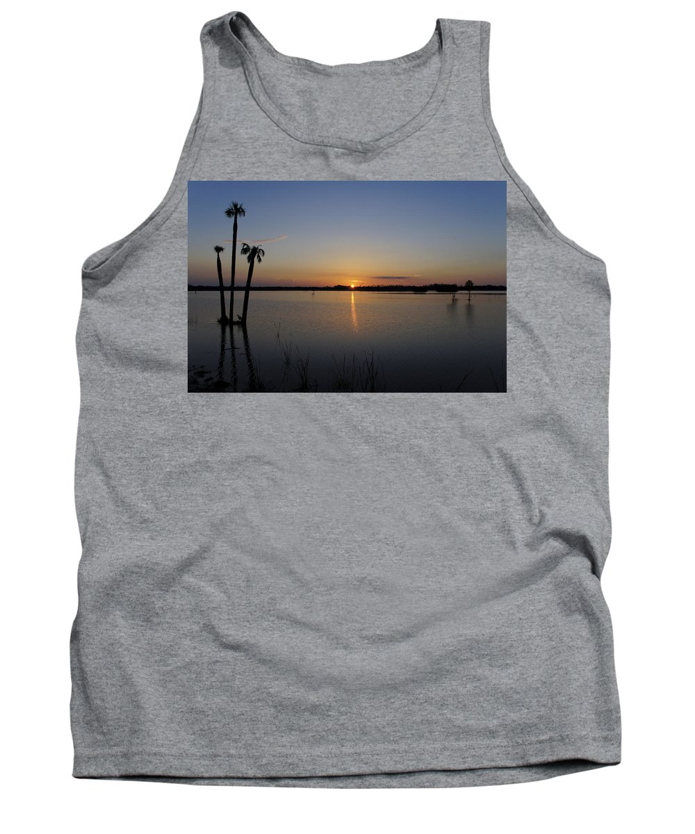 Cypress Tree Tank Top featuring the photograph Beautiful Florida Sunrise by Brian Kamprath