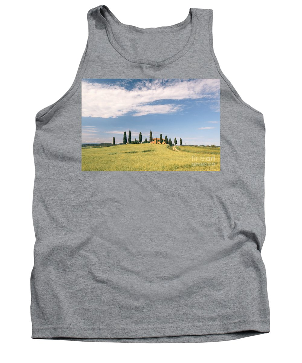 Tuscany Tank Top featuring the photograph Beautiful House In Val D'orcia - Tuscany - Italy by Matteo Colombo
