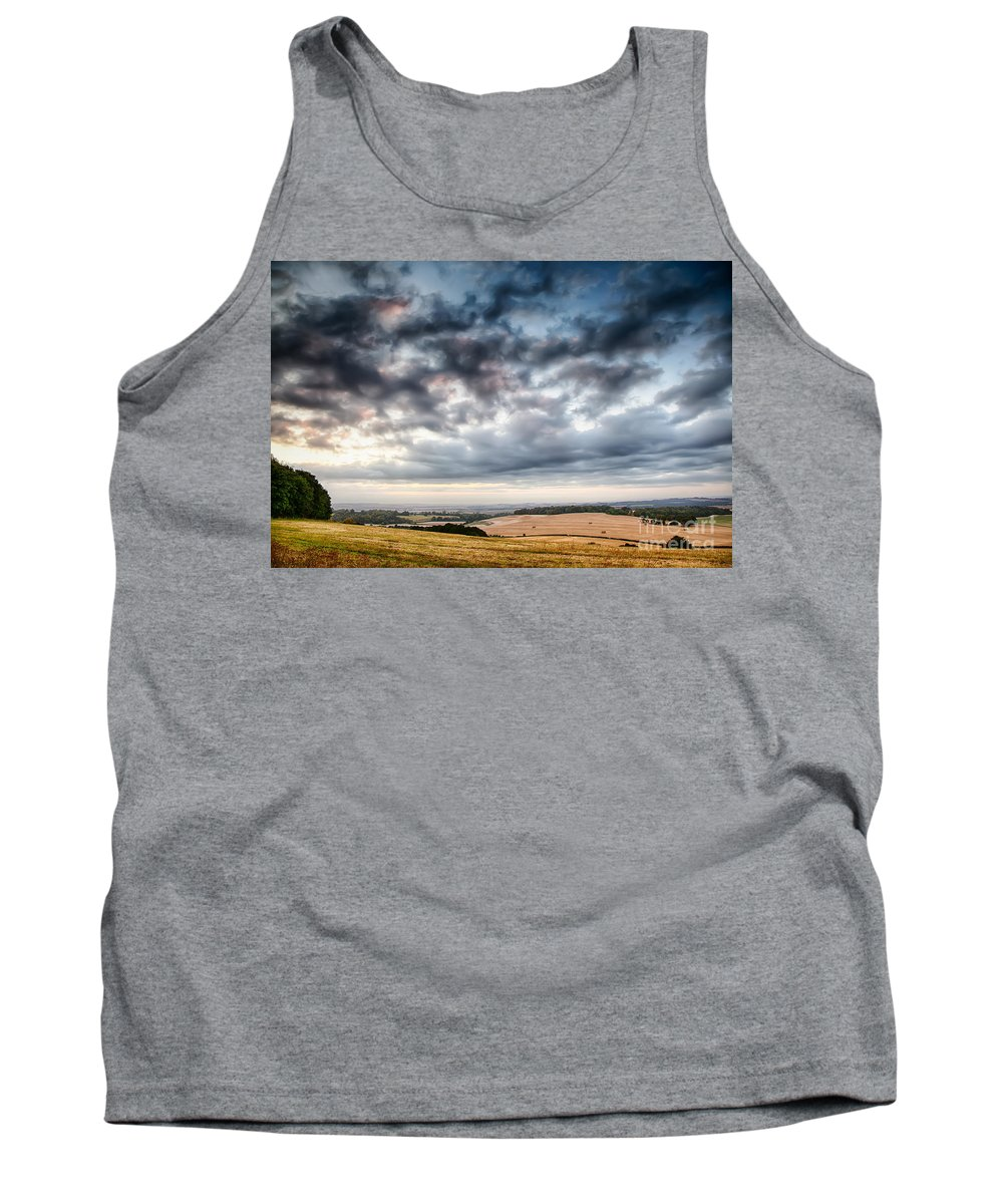 Landscape Tank Top featuring the photograph Beautiful Skies Over Farmland by Simon Bratt Photography LRPS