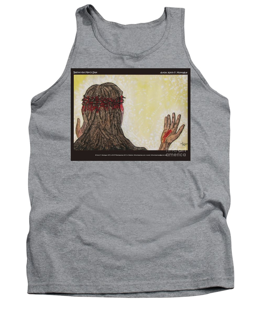 Jesus Tank Top featuring the painting Before The Mercy Seat by Kevin Montague