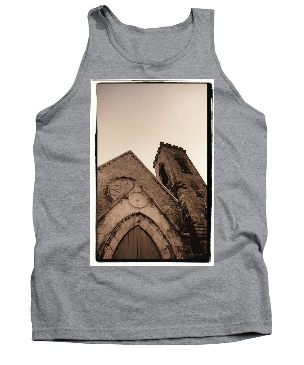New York Tank Top featuring the photograph Bell Tower by Donna Blackhall