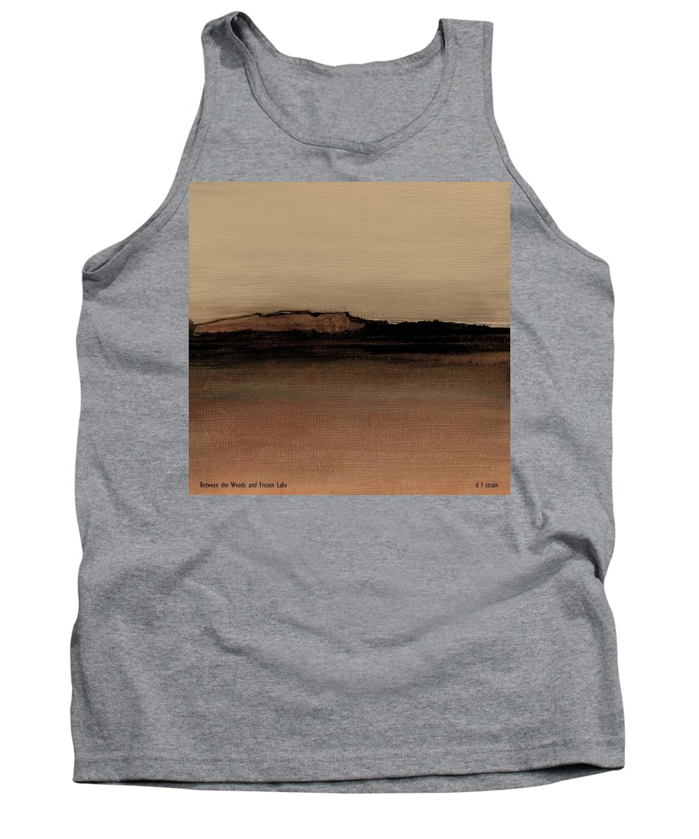 Fineartamerica.com Tank Top featuring the painting Between The Woods And Frozen Lake Number One by Diane Strain