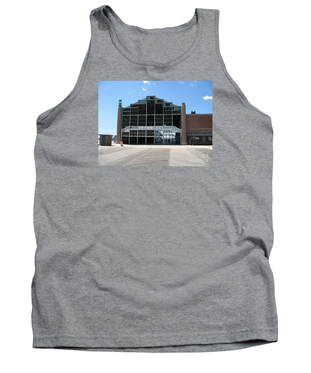 Casino Tank Top featuring the photograph Beyond Recovery - Casino Ruin Ashbury Park by Christiane Schulze Art And Photography