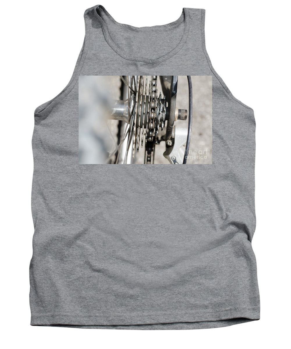 Bicycle Tank Top featuring the photograph Bicycle Cassette by Mats Silvan