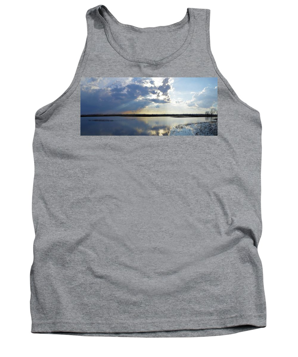 Marsh Tank Top featuring the photograph Big Marsh Sunset by Bonfire Photography