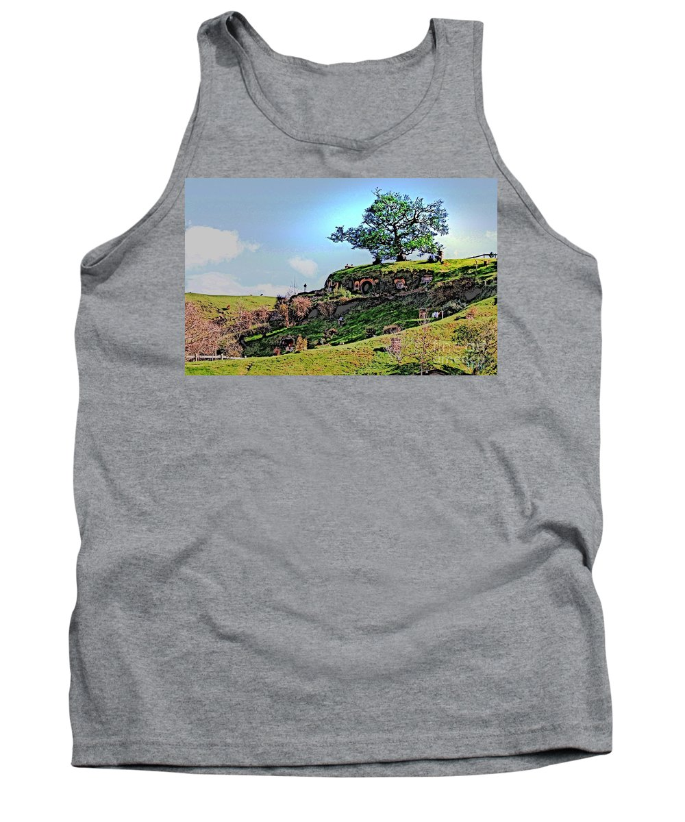Hobbit Tank Top featuring the photograph Bilbo's Tree by Helge