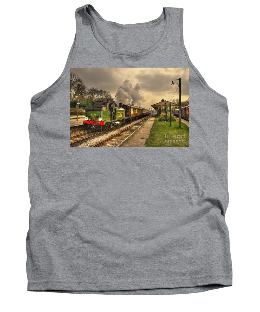 Birch Grove Tank Top featuring the photograph Birch Grove At Horsted Keynes by Rob Hawkins