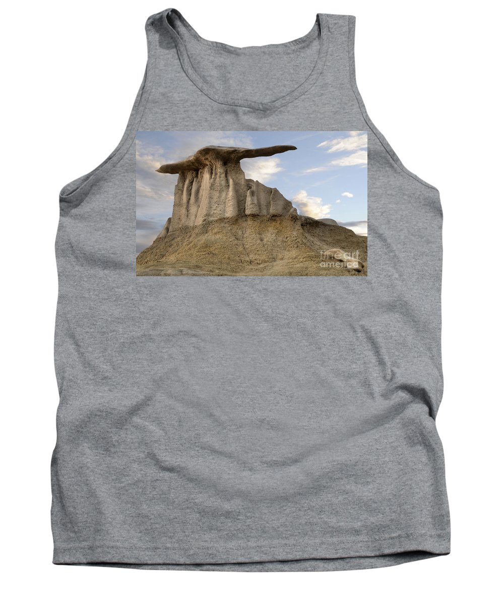 Textures Tank Top featuring the photograph Bisti De-na-zin Wing by Vivian Christopher