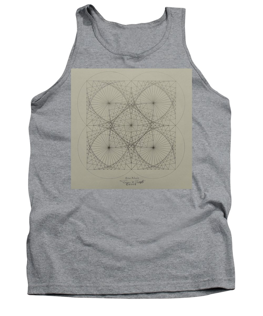 Fractals Tank Top featuring the drawing Blackhole by Jason Padgett