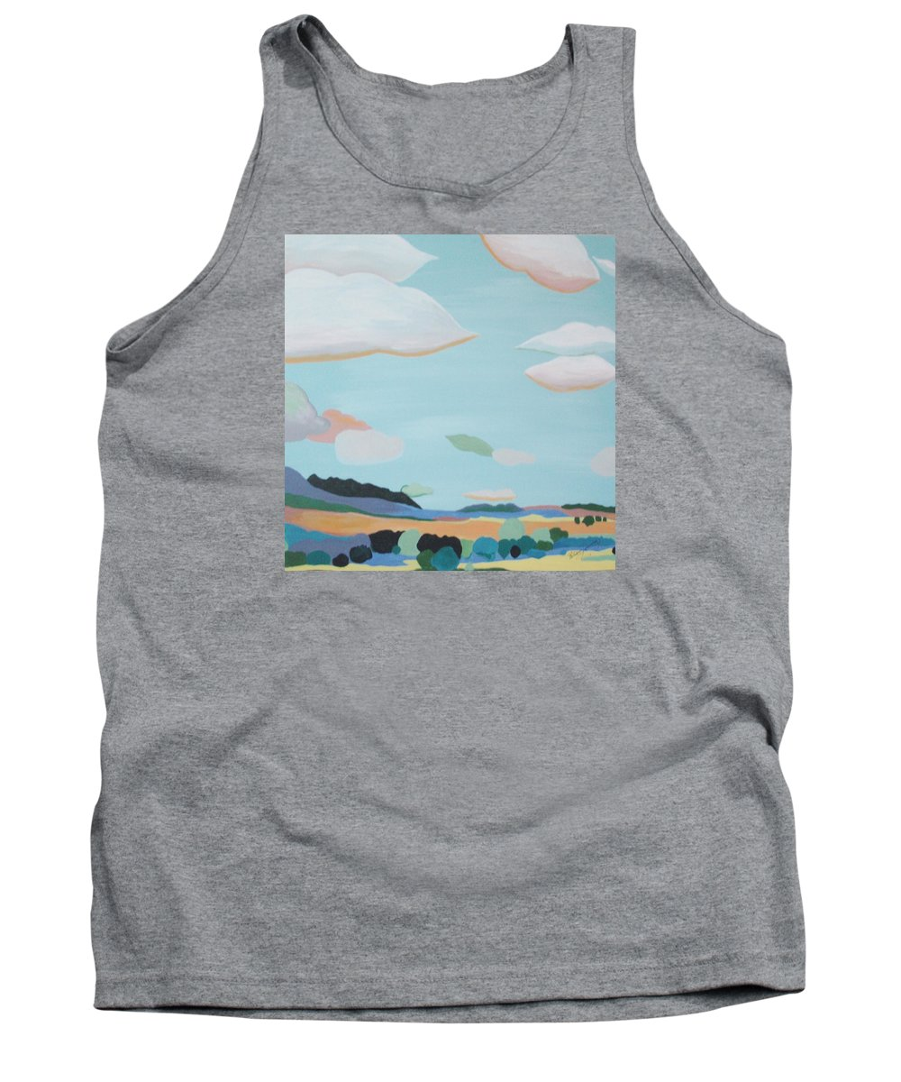 Sergeant Pepper's Lonely Heart Club Reminiscent Tank Top featuring the painting Bliss by Patricia Brewer-Cummings