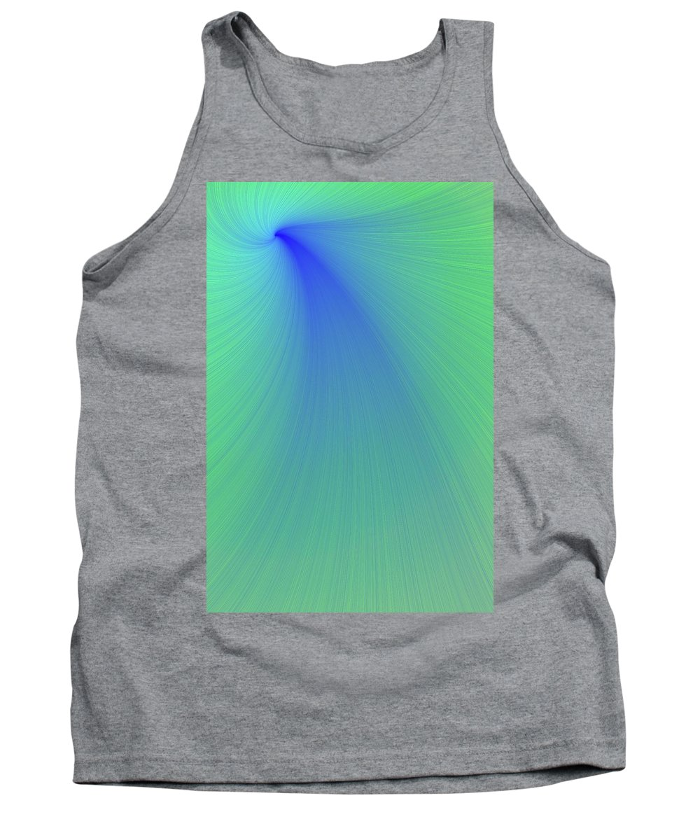 Abstracts Tank Top featuring the photograph Blue And Green Abstract by Paul Sale Vern Hoffman
