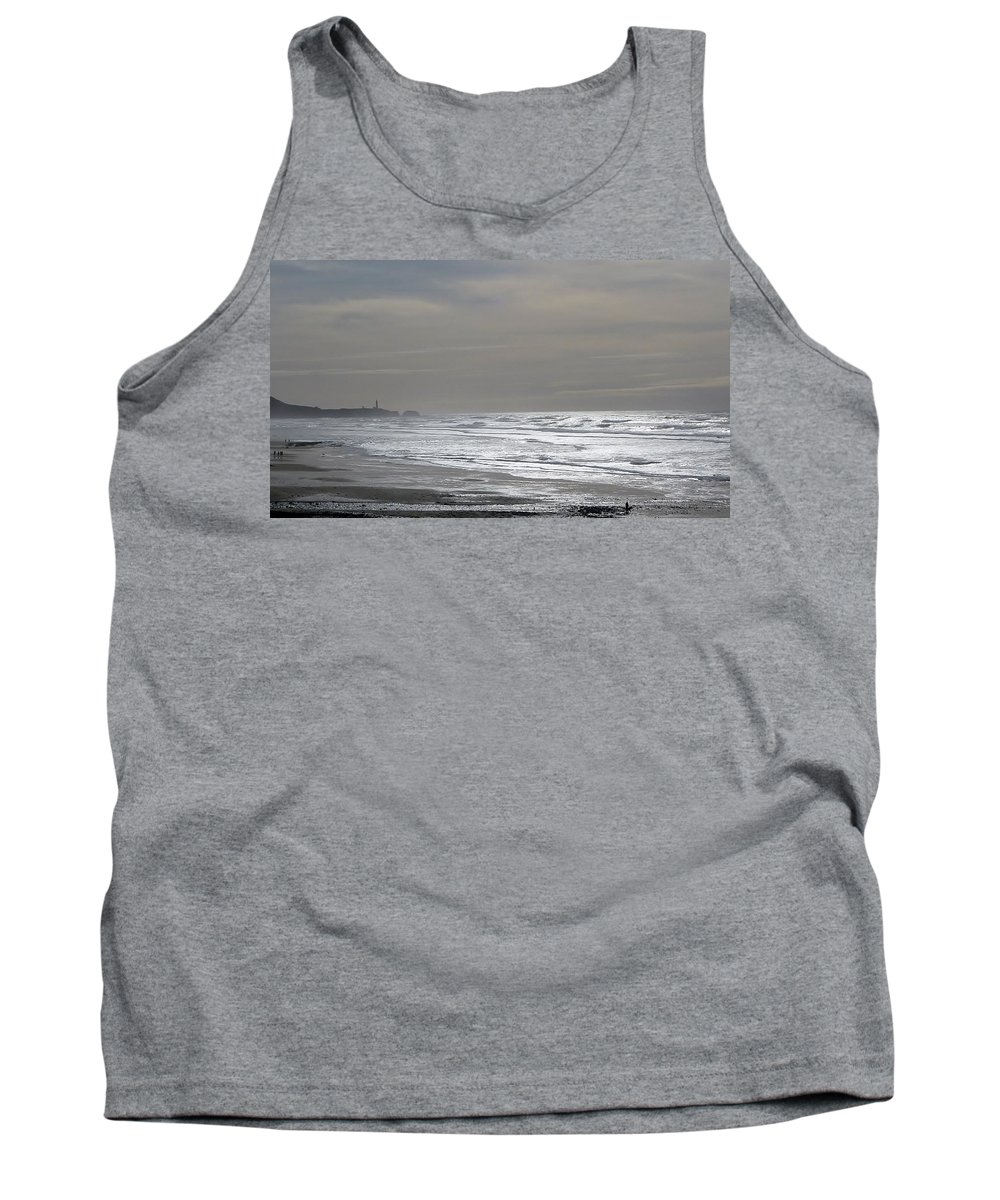 Waves Tank Top featuring the photograph Blue Lighthouse View by Susan Garren