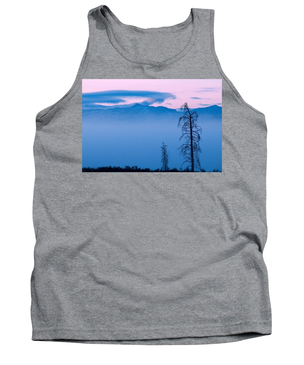 Yellowstone Tank Top featuring the photograph Blue Morning by Steve Stuller