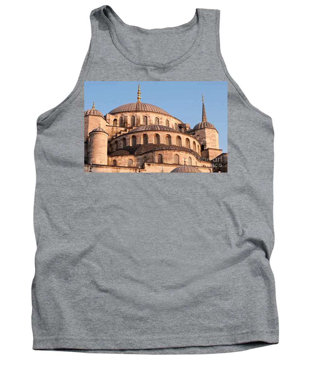 Istanbul Tank Top featuring the photograph Blue Mosque Domes 09 by Rick Piper Photography