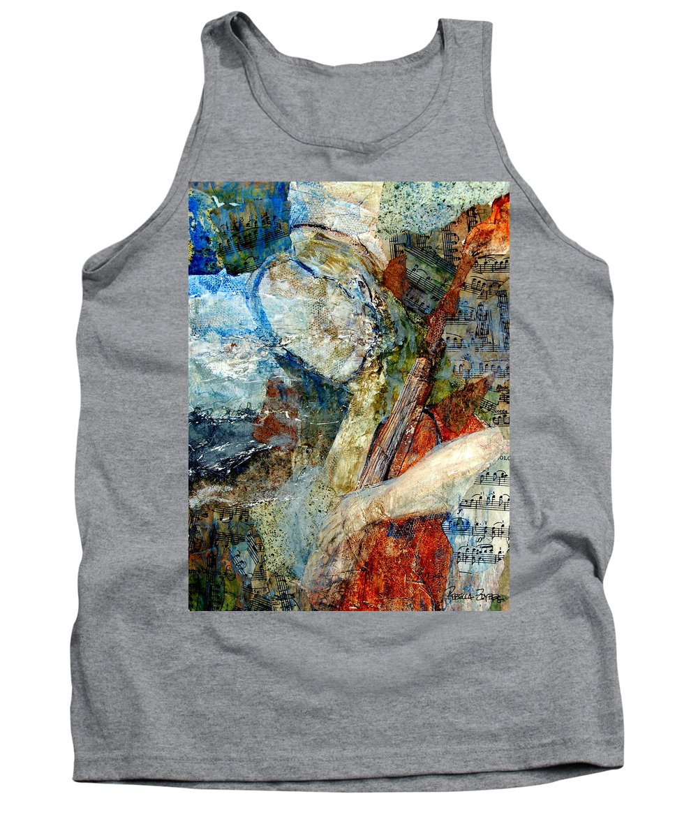 Music Tank Top featuring the painting Blue Notes by Rebecca Zdybel