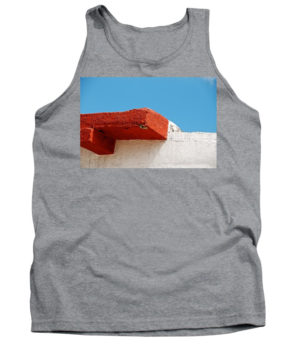 Blue Tank Top featuring the photograph Blue Red And White by David Coleman