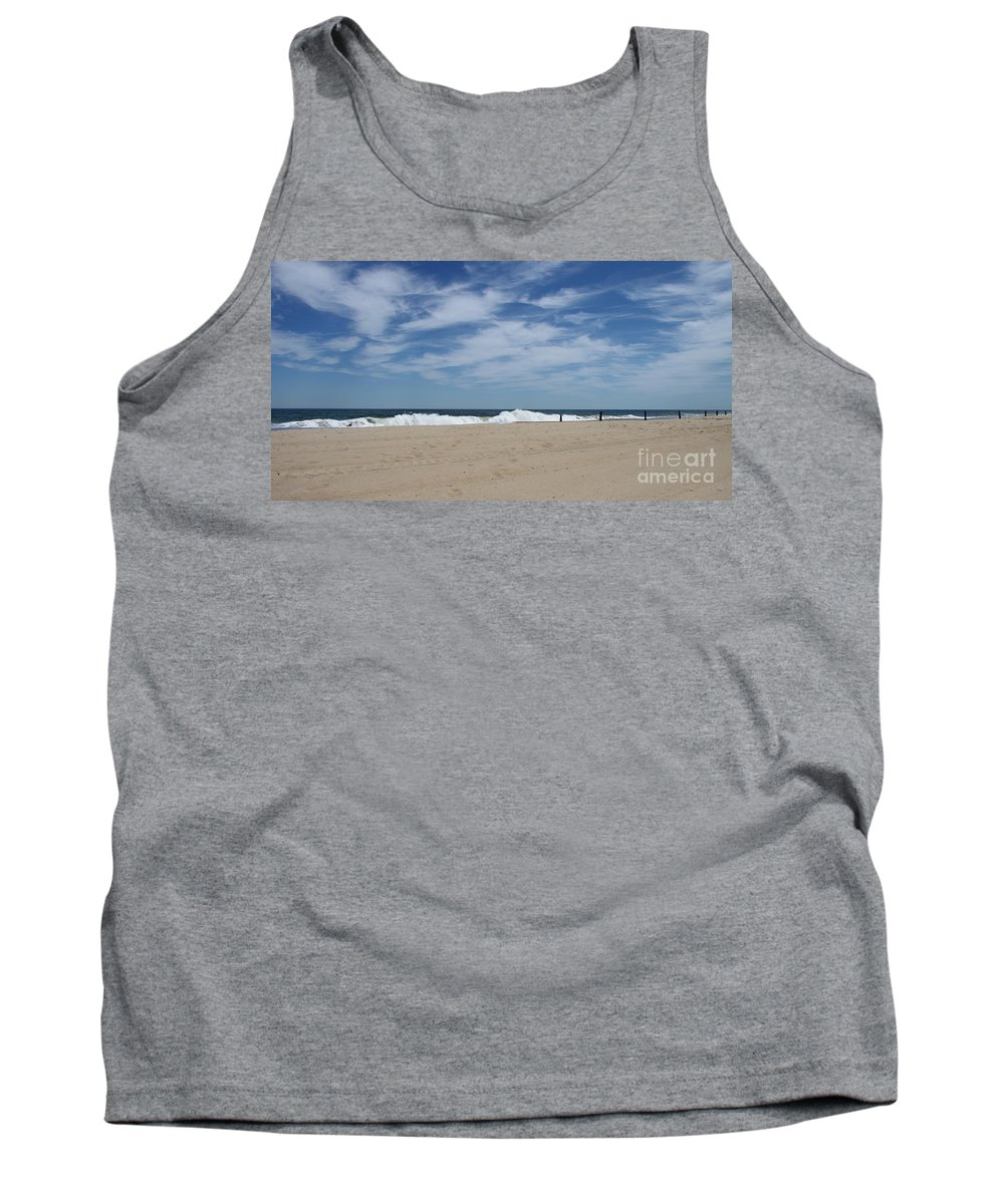 Blue Sky Tank Top featuring the photograph Blue Sky And Waves by Christiane Schulze Art And Photography
