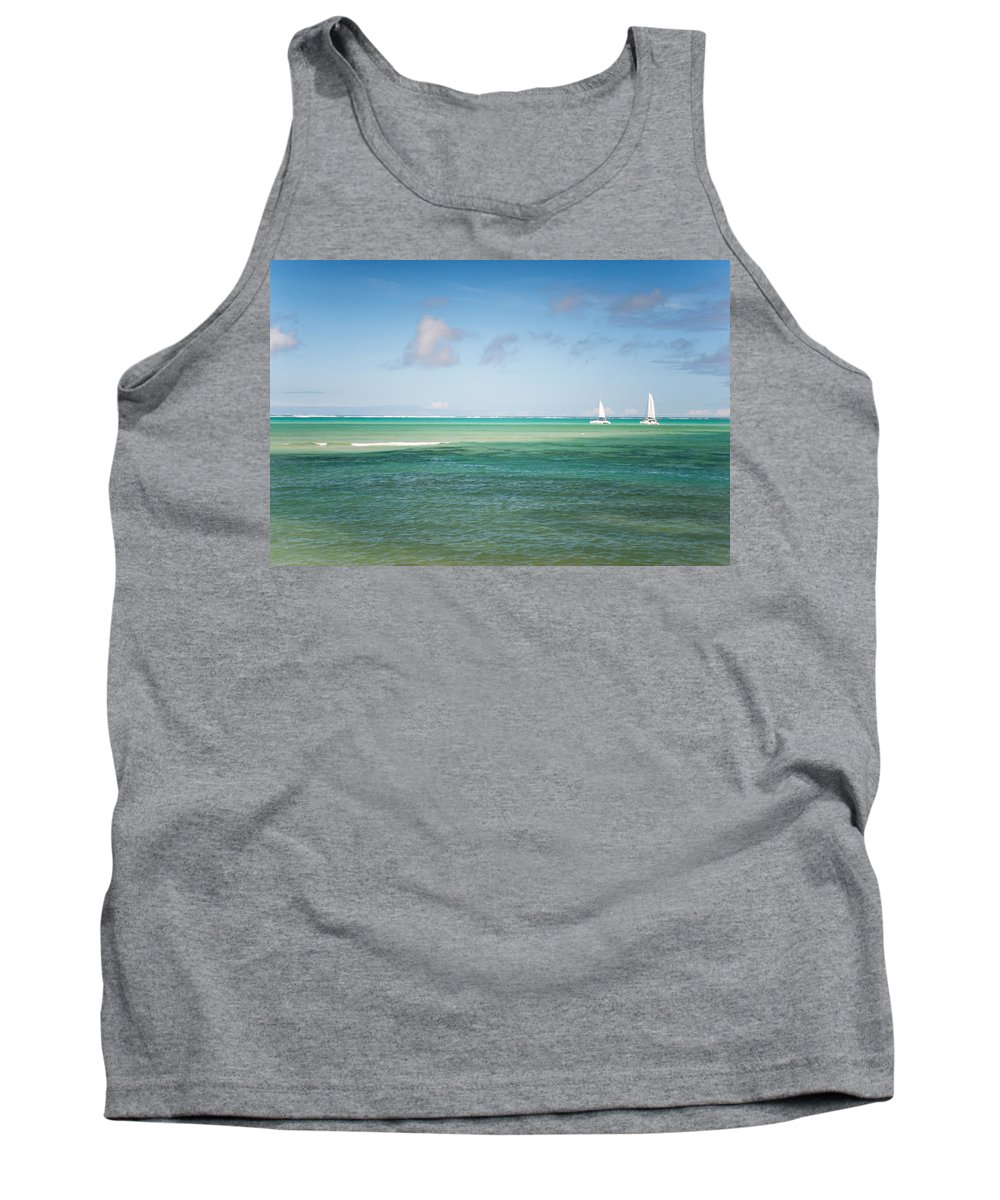 Ocean Tank Top featuring the photograph Blues. Mauritius by Jenny Rainbow