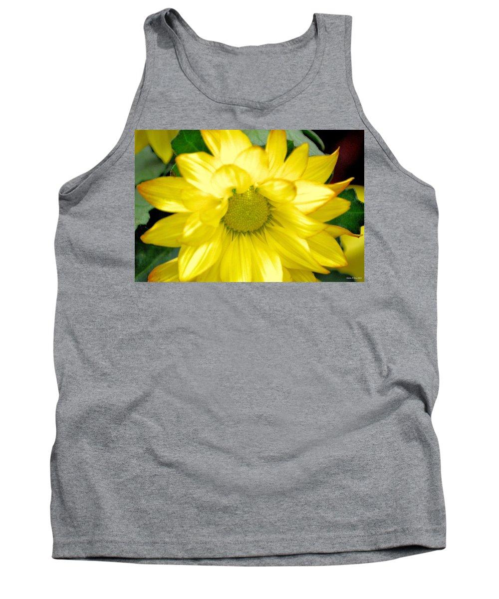 Blushing Sunshine Tank Top featuring the photograph Blushing Sunshine by Maria Urso