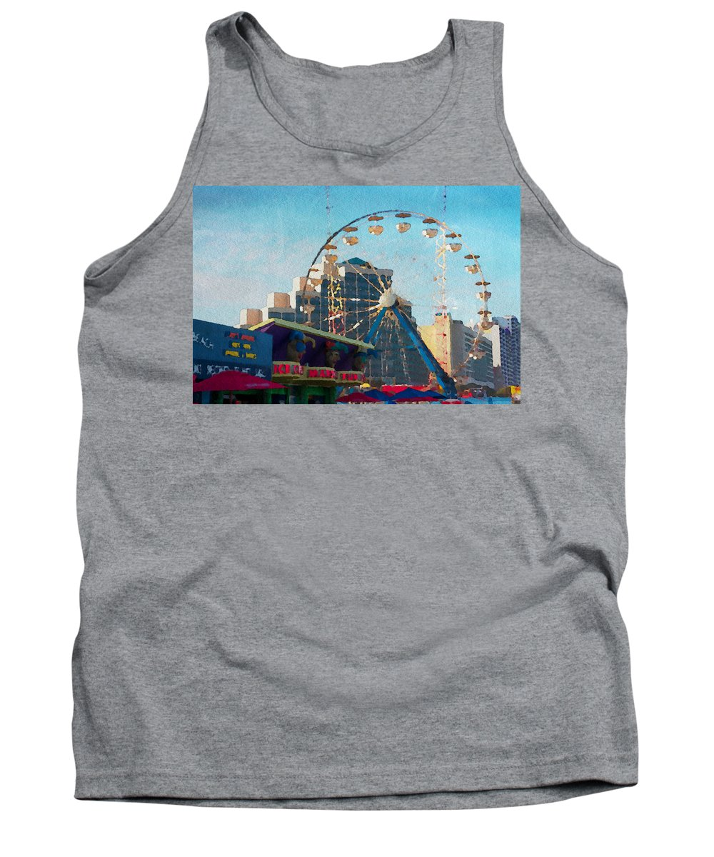 Daytona Beach Tank Top featuring the photograph Boardwalk Ferris by Alice Gipson