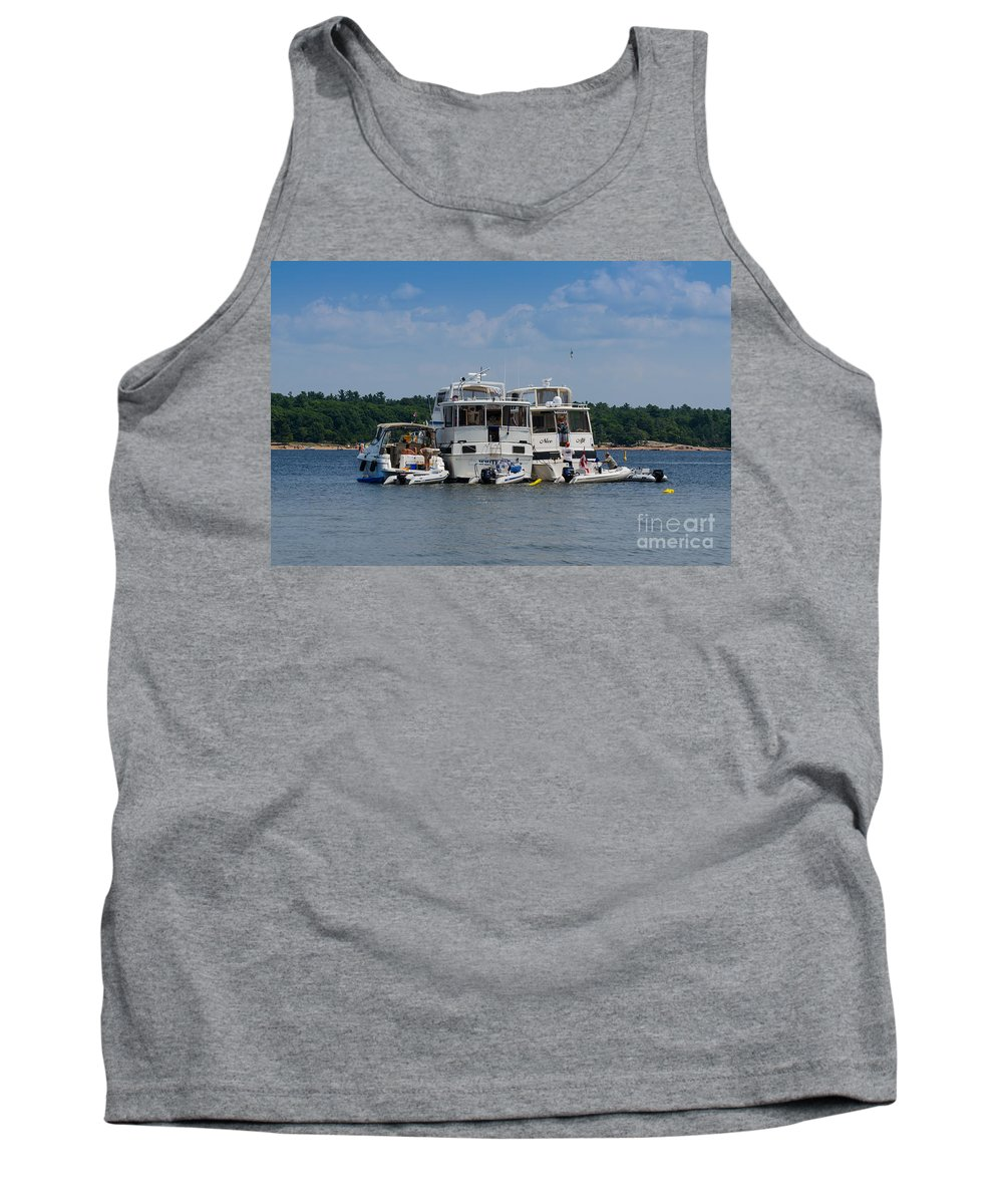 Boats Tank Top featuring the photograph Boating Buddies by Les Palenik