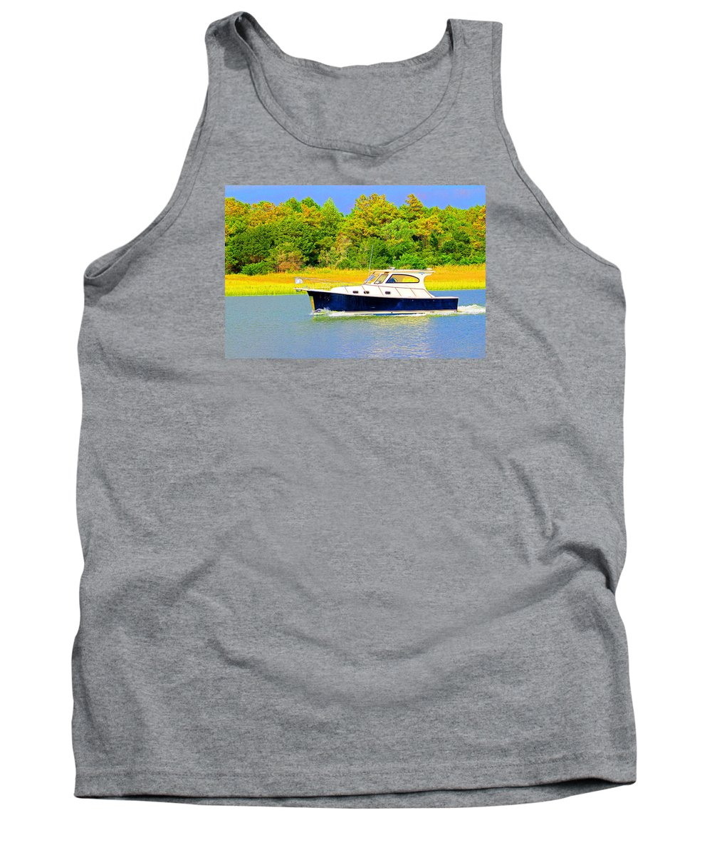 Boat Tank Top featuring the photograph Boat Ride by Cynthia Guinn