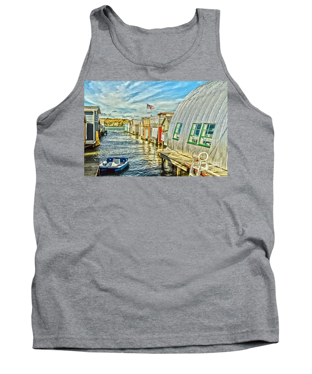 Water Tank Top featuring the photograph Boathouse Alley by William Norton