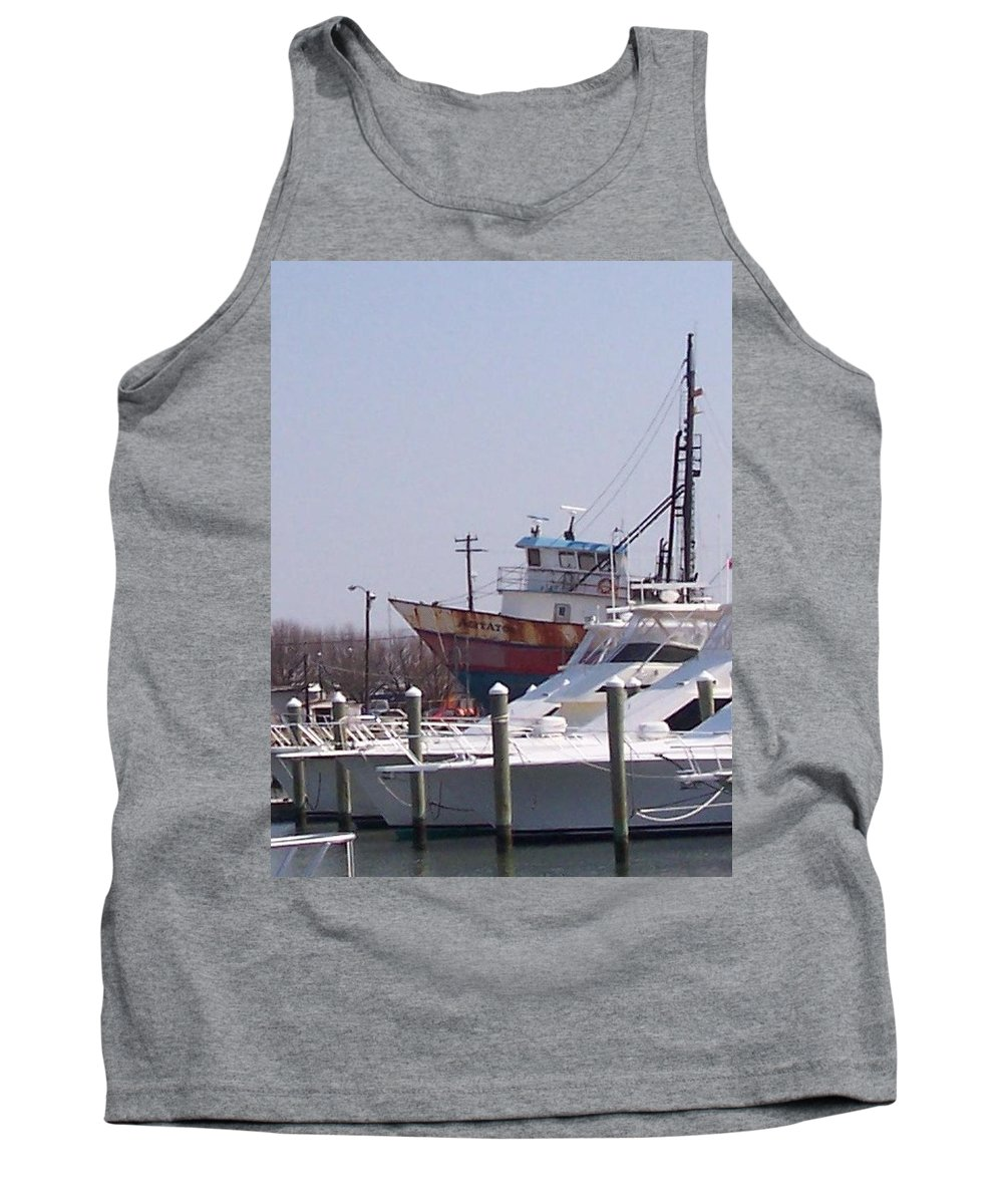 Boat Tank Top featuring the photograph Boats Docked by Pharris Art