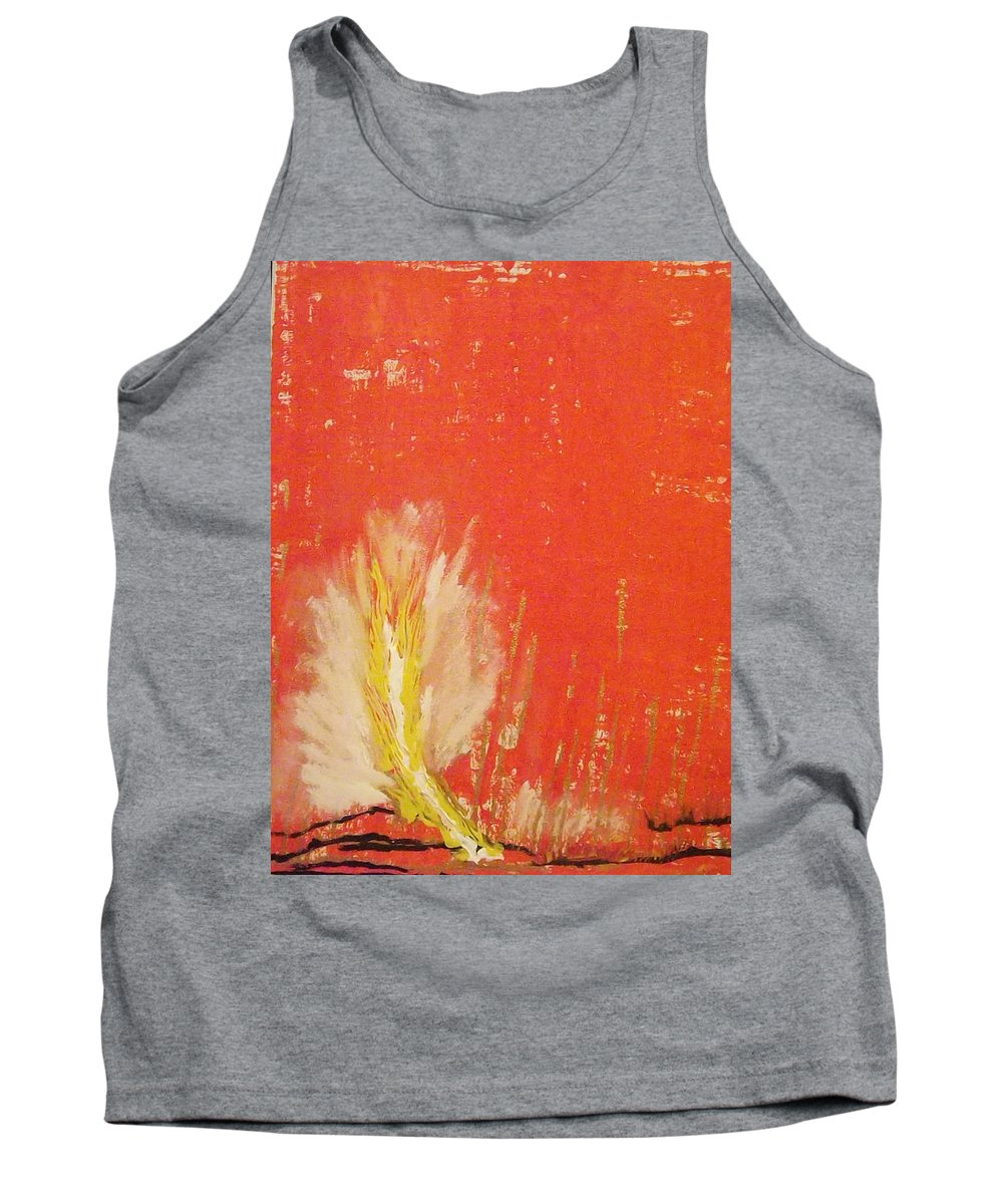 Landscape Tank Top featuring the painting Bonfire by Denise Morgan