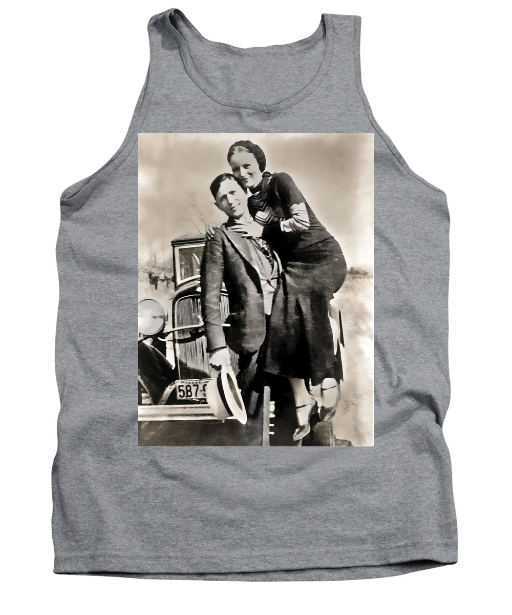 bonnie And Clyde Tank Top featuring the photograph Bonnie And Clyde - Texas by Daniel Hagerman
