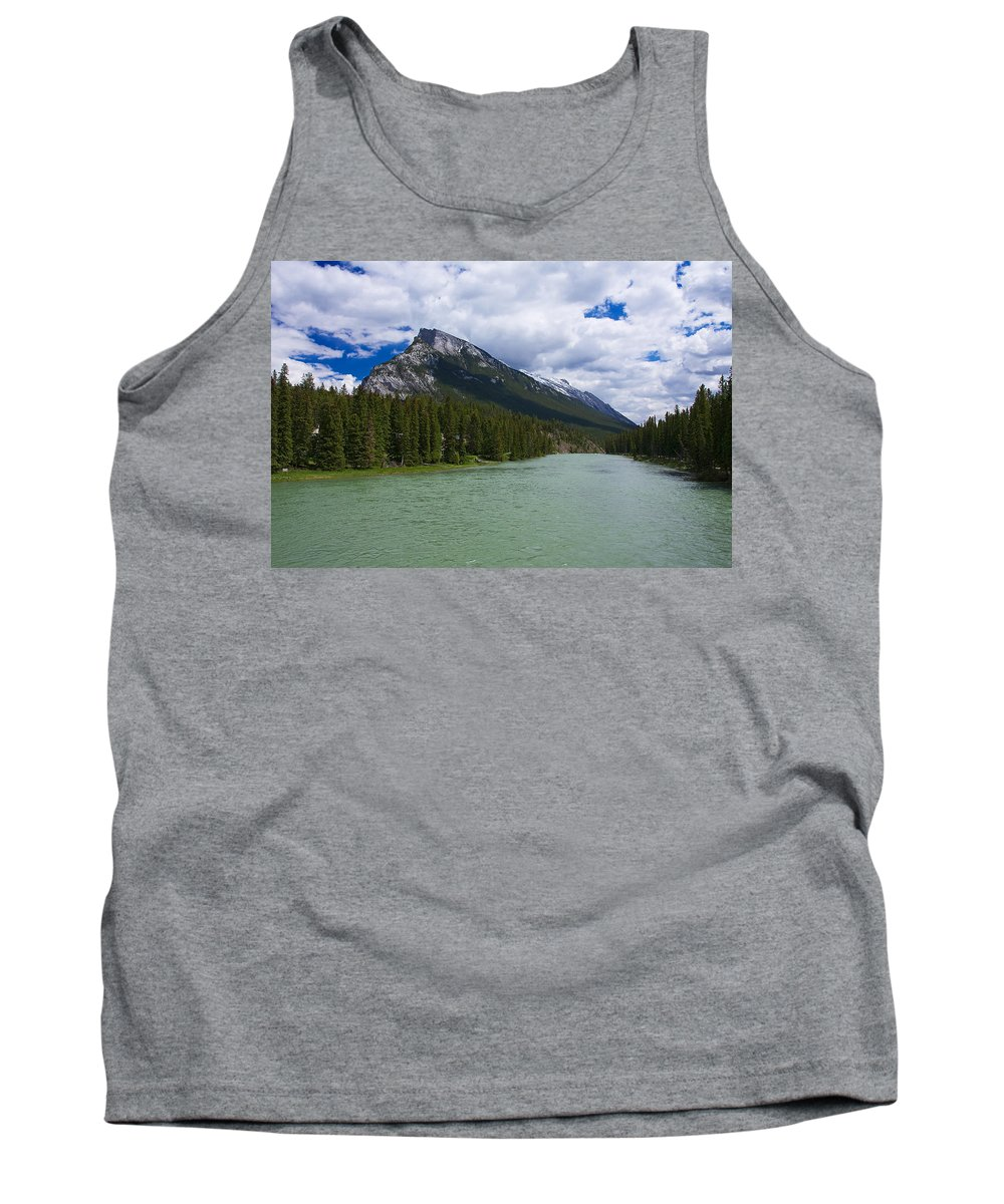 Banff Tank Top featuring the photograph Bow River - Banff by Stuart Litoff