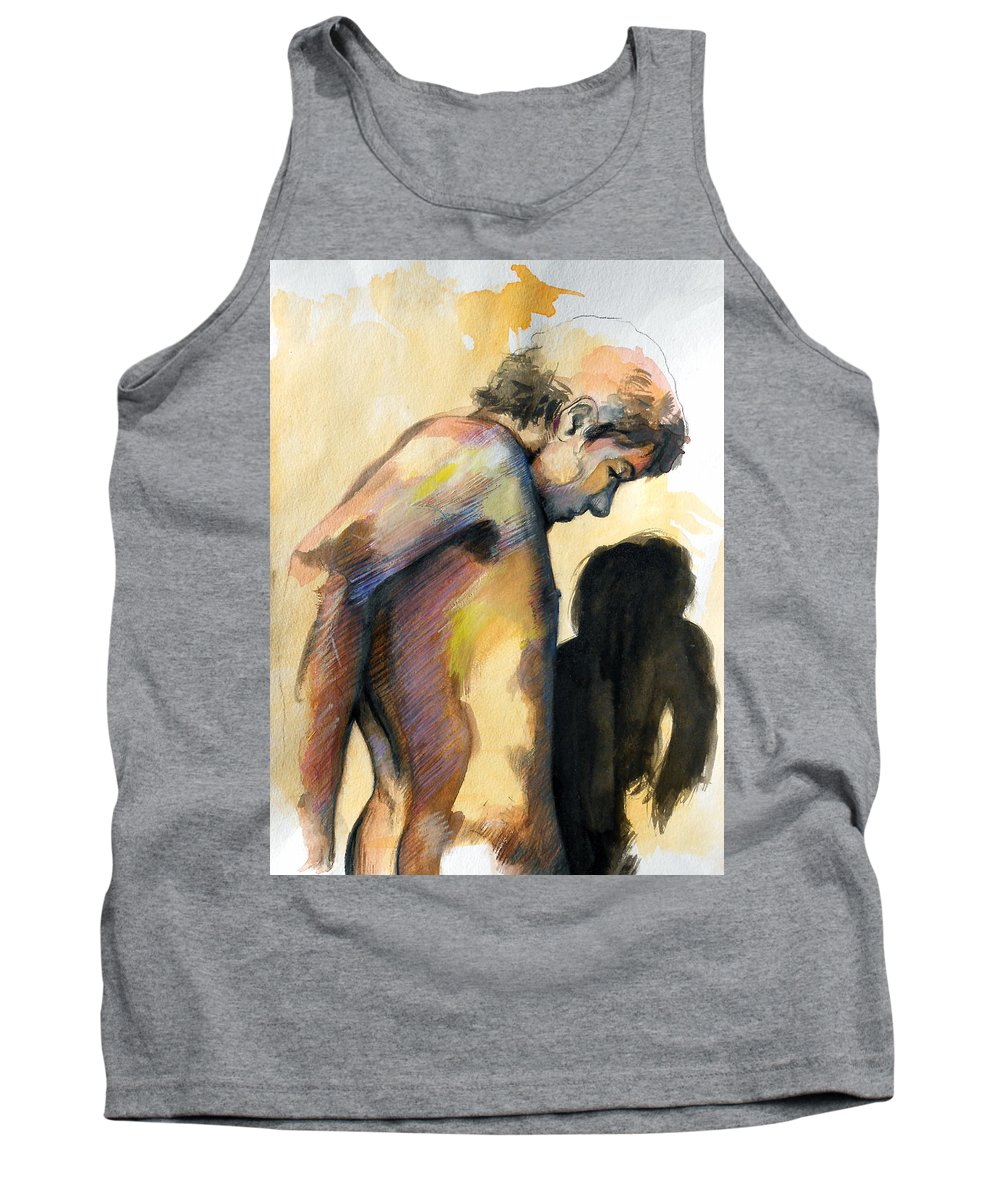 Popular Gay Artists Tank Top featuring the painting Boy Looking For Truth by Rene Capone