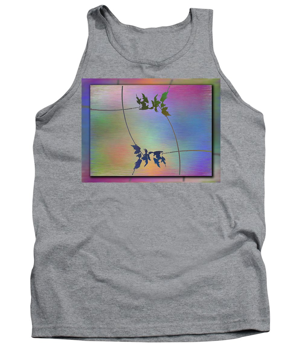 Abstract Tank Top featuring the digital art Branches In The Mist 82 by Tim Allen